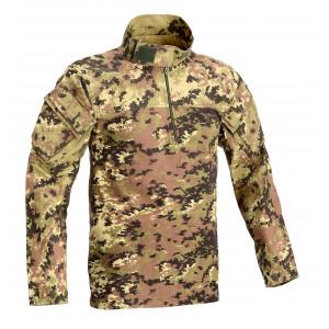 Combat shirt  cotone elasticizzato tutta mimetica