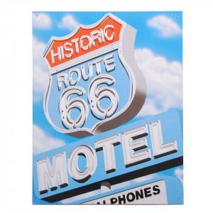 Targhe metallo grandi Route 66 Historic Motel