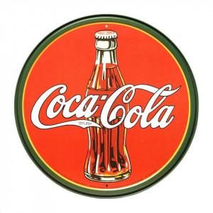 Targhe metallo grandi Coca Cola