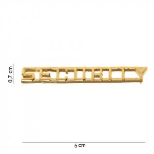 Scritta in met. SECURITY oro