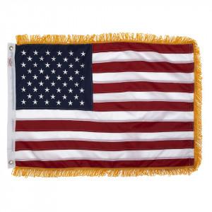 Bandiera USA in nylon con frange originale