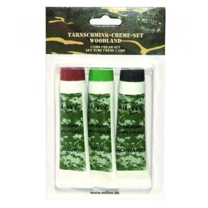 Trucco camo 3 colori (in tubetti) in blister